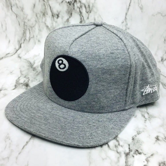 3811f9aae Men s Stussy heather grey eight ball snap back. M 5ce5bf527a8173f4edd5404b.  Other Accessories you may like. Vintage Snapback Hats ...